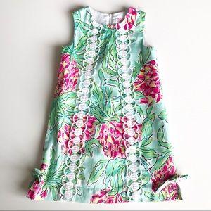 Lilly Pulitzer Flower Shift Lace Dress Girls 6